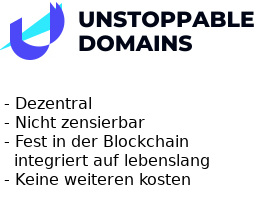 Registriere Blockchain Domain