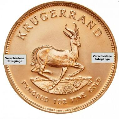 Krugerrand verschiedene Jahrgänge